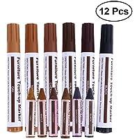 OUNONA 12 in 1 Holzmöbel Kratzer Reparatur Touch up Paint Stifte Buntstifte Getragen Blemish Verbergen Tool Set