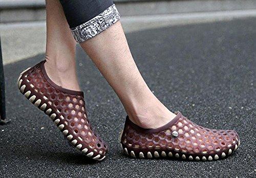 GLTER Casual Clogs Sandali Respirabili Sandali di estate nuovi uomini Scarpe di moda Sandali di colore Candy Gentleman Khaki