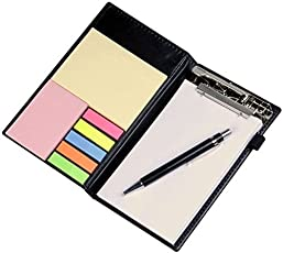 VMP Note Pad/Memo Note Book,Planner, Clip Holder Set of Post Its, Letter Pad, Pen and Page Markers, Office Work Place Essentials