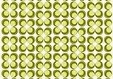 Fototapete Retrokreise Grün 400cm Breit x 280cm Hoch Vlies Tapete Wandtapete Vliestapete Effekt Stoß auf Stoß - Modern Wanddeko, Wandbild, Fotogeschenke, Wand, Wandtapete, Dekoration, Wohnung