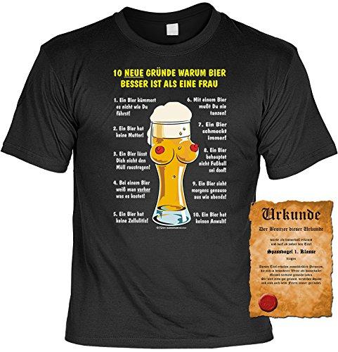 Sprüche Fun T-Shirt mit gratis Spass-Urkunde Geburtstags-Weihnachts-Vatertags-Geschenk viele tolle Bier Alkohol Party Motive Übergrößen 3XL 4XL 5XL schwarz-07