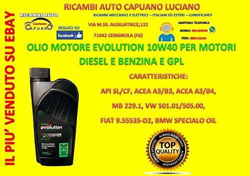 INTEROIL EVOLUTION Olio Motore/Auto Diesel E Benzina 10W40 (6 Litri)