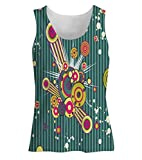 Snoogg Colorful Pattern Amazed Womens Tunic Casual Beach Fitness Vests Tank Tops Sleeveless T shirts Amazon