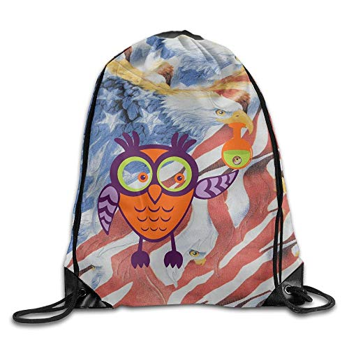 he mit Kordelzug, Sportrucksack, Reiserucksack, Cute Halloween Owl Unisex Outdoor Gym Sack Bag Sport Drawstring Backpack Bag ()