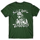 LaMAGLIERIA T-Shirt Homme Suicidal Tendencies St01 - T-Shirt Rock Metal 100% Coton, M, Vert