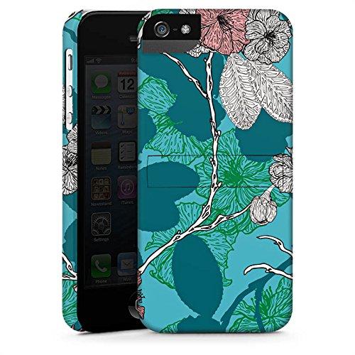Apple iPhone X Silikon Hülle Case Schutzhülle Kirschblüten Blüten Muster Premium Case StandUp