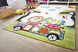Kinder Teppich Modena Kids Tiere on Tour - Bunt Öko-Tex zertifizierter Kinderteppich, Größe 200x240 cm