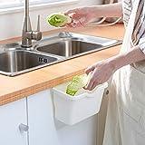 95sCloud Opvangbak voor keukenafval, opvangbak, voor het ophangen van keukenafval, afvalbak, opvangbak, vuilnisemmer, kastdeur, hangen, vuilnisemmer, keukenkast, deur, vuilnisbak, houder wit
