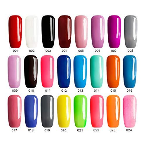 JUNGEN Pluma de Pegamento de uñas Pluma de pintura de uñas de arte Lápiz de uñas 3 en 1 Esmalte de uñas de un paso de flash Cepillo de uñas con Pegamento de fototerapia (Rojo 2)