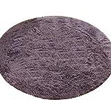 Teppiche für Schlafzimmer/Wohnzimmer/Couchtisch Grau-lila Runde, Rutschfeste Flurteppiche für Teppichböden Läufer für Küche Und Eingangsbereich, Größe Optional (größe : 140cm)