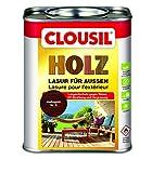 CLOUsil Holzlasur Holzschutzlasur für außen mahagoni Nr. 03, 0.75L: Wetterschutz, UV-Schutz, Nässeschutz und Schimmel für alle Holzarten - in verschiedenen Farben