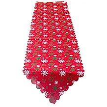 FEOYA - Decoración de Mesa Navidad Mantel Antimanchas Rectangular con Estampado Lindo Tapetes de Mesa de