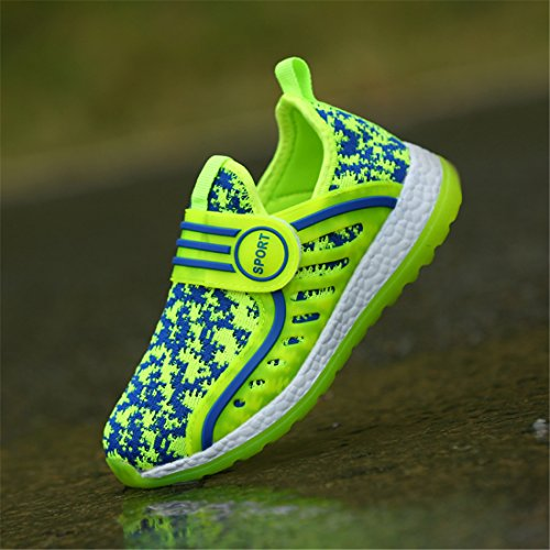 DorkasDE Kinder Schuhe Jungen Mädchen Sneakers Atmungsaktiv und bequem Turnschuhe Sportschuhe Grün