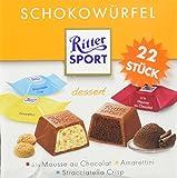 Ritter Sport Schokowürfel Box Dessert (mit den Sorten Stracciatella Crisp, Amarettini und à la Mousse au Chocolat) 22 Stück je Box (8 x 176 g)