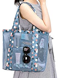 5030c0171e LIOOBO Women Candy Flower Clear Transparent Handbag Shoulder Vegetable Bag  Beach Outdoor Travel Storage Bag (