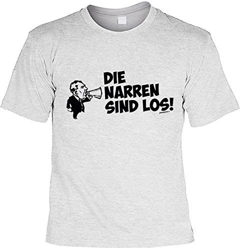 Faschings Karneval T-Shirt Faschingsleiberl Die Narren sind los Laiberl zum Fasching witziges Fun Shirt Karnevalzeit Faschingszeit Grau