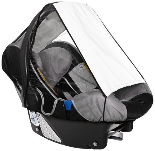 sunnybaby 11186 - Universal Sonnenschutz für Babyschale, Sonnendach mit Insektenschutz | UV Schutz UPF 50+ | vielseitig verstellbar | mit Eingriff - Farbe: NATUR | Qualität: MADE in GERMANY