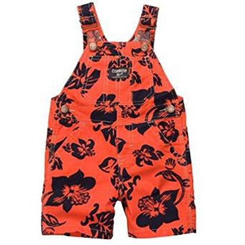 Oshkosh Baby Overall Latzhose Jungen Hawai Orange Blau (86) (Oshkosh Kinder-shorts)