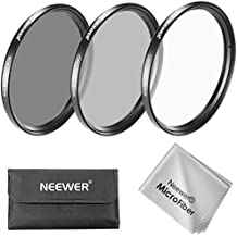 Neewer 55MM Filtro de Lente Kit: UV Filtro + CPL Filtro + ND4 Filtro + Bolsa de Filtro + Paño de limpieza para Sony Alpha Series DSLR Cámaras con 18-55mm, 75-300mm f/4.5-5.6, 50mm f/1.4 Lentes