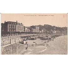 Postal Antigua - Old Postcard : San Sebastián - Vista General de la playa
