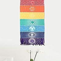 03 Manta de Picnic Colorida ecológica con Buena sensación de Mano, Manta Colgante Elegante, para Colcha de Manta de Picnic
