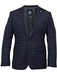 Uomo Giacca Marc Darcy Elegante Cappotto Con Motivo Tartan Abito Da Sera Giacca  Di Marca Nuovo a342c8cd172