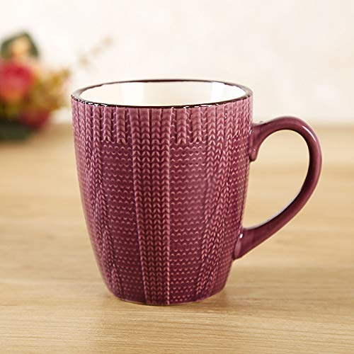 Winpavo Mugs Tasses Mug Coffee Mug Porcelaine Émaillée Contemporaine, Violet