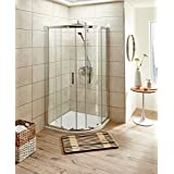 VeeBath Jade Modern Bathroom 900x900mm Quadrant Easy Clean Shower Enclosure Cubicle Glass Screen Door