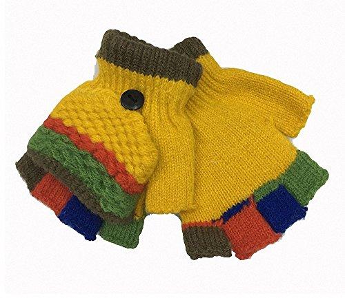 Fingerlose Handschuhe, Half Finger gestrickte Handschuhe Kinder, schützen Sie Ihre Hände vor Kälte und Steifheit.