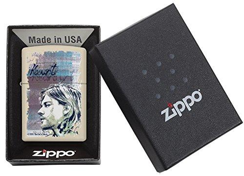 Zippo 60.002.308 Feuerzeug Kurt Cobain Collection Spring 2016, creme matte - 5
