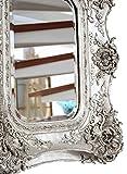 Spiegel 65x72cm Wandspiegel silberfarben Verzierungen Rosen antik Stil mirror - 3