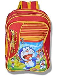 Apoorva Red Yellow Doraemon Red Yellow Latest 3D Printed Bag, School Bag For Girls And Boy Kids,School Bag,Red...