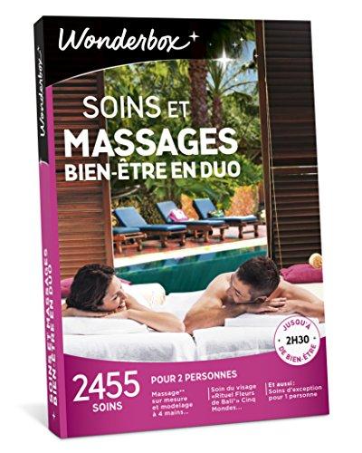 Wonderbox - Coffret cadeau couple - SOINS ET MASSAGES BIEN-ÊTRE EN DUO- 2455...
