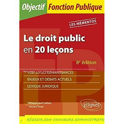 Le droit public en 20 leçons - 8e édition