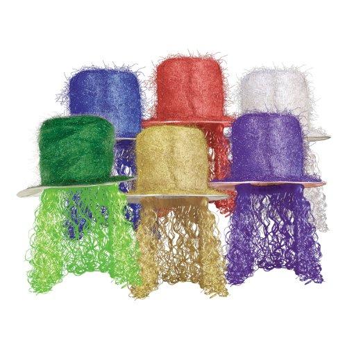 Beistle 1er Pack Lametta Top Hat mit Gelockt Perücke