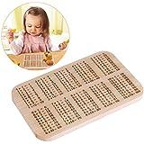 ounona 1x 1tabla para desayuno Tabla de madera de haya para niños aprender