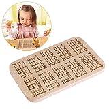 OUNONA 1x1 Frühstücksbrettchen Frühstücksbrett aus Buche Holz Für Kinder Lernen