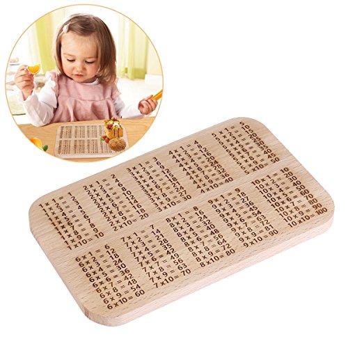 OUNONA 1x1 Frühstücksbrettchen Frühstücksbrett aus Buche Holz Für Kinder Lernen 3