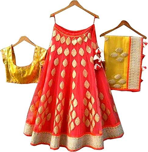 Sai Women's Designer New Taffeta Silk Designer Wedding Ware Beautiful Lehenga Choli...