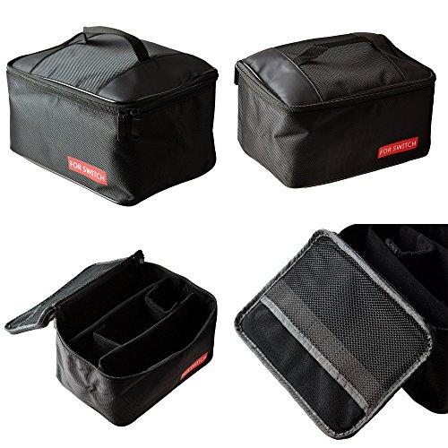 Trip Packing Case (Mcbazel Tragbare Aufbewahrungsbeutel, Tragen Sie alle Nylon schützende Reise Reißverschluss Fall Reisetasche für Nintendo Switch Konsole & Zubehör (schwarz))