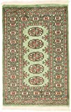 Nain Trading Pakistan Buchara 3ply 97x65 Orientteppich Teppich Beige/Olivgrün Handgeknüpft Pakistan