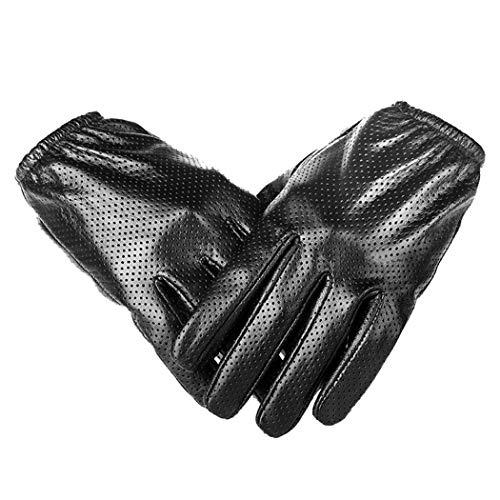 Männer Lederhandschuhe Sommer Aushöhlen Atmungsaktives Gewebe Touchscreen Dünne Weiche Outdoor Radfahren Fahren Motorradhandschuhe