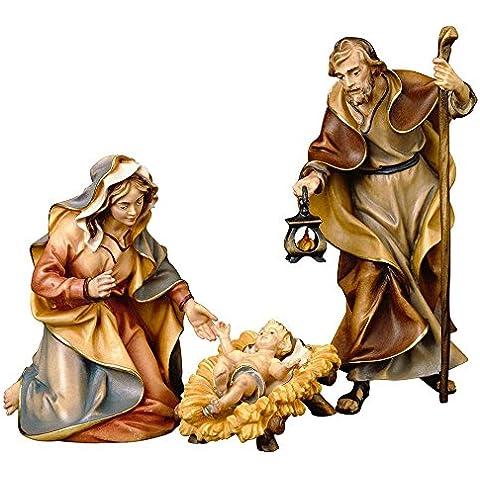 Progettare in vero legno UL Sacra Famiglia - 4 pezzi, Presepe Ulrich, figure del presepe, 15cm, colore