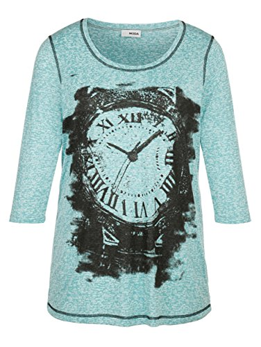 Damen Shirt mit Druckmotiv by MIAMODA Smaragd