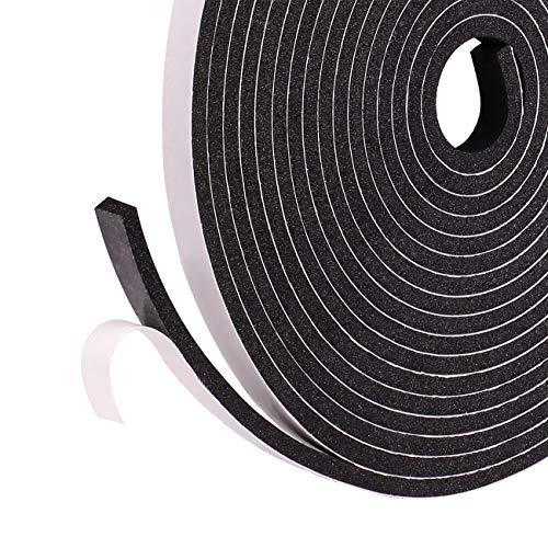 3 Pack selbstklebend Schaumstoff klebeband 6mm(B) x3mm(D) x5m(L) schwarze Fensterdichtung Dichtungsband für Türen Fenster Schalldämmung Anti-Kollision Gegen warme kalte Zugluft und Lärm