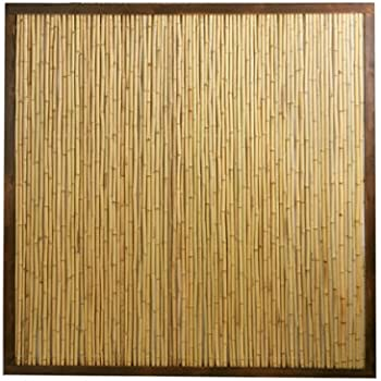 5 Fence Panel Made Of Giant Black Bamboo Canes Amazon Co