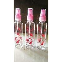 Amigozz 100ml Empty Cute Bear & Floral Refillable Fine Mist Spray Bottle, 3 Pc (Random Colour)