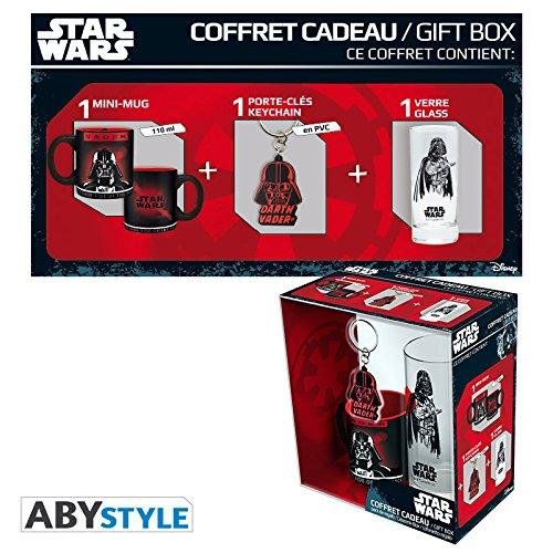 ABYstyle abypck083Star Wars Gift Box Taza con Llavero y Vaso Darth Vader