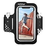Mpow Fascia da Braccio Sweatproof Fascia Sportiva da Braccio per Corsa & Esercizi con Supporto Chiave e Riflettente Armband per iPhone XS/X/8/7/6, Samsung Galaxy S7, S6, etc - Nero