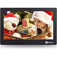 Arzopa 10-inch IPS Screen Widescreen Digital Photo Frame HD 16:9 Picture Album Support MP3 MP4 Video Player Clock Calendar Random Playback Mode with Remote Control(Upgrade Edition)
